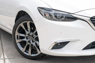 2016 Mazda 6 GJ1032 Atenza SKYACTIV-Drive White 6 Speed Sports Automatic Sedan.