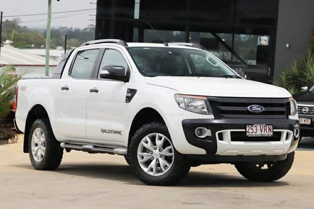 Used Ford Ranger PX Wildtrak Double Cab, 2015 Ford Ranger PX Wildtrak Double Cab White 6 Speed Sports Automatic Utility