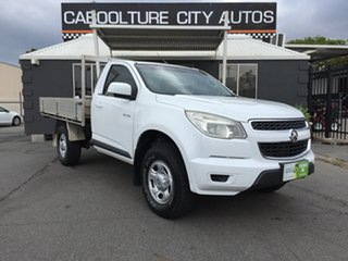 2013 Holden Colorado RG LX (4x2) White 6 Speed Automatic Cab Chassis.