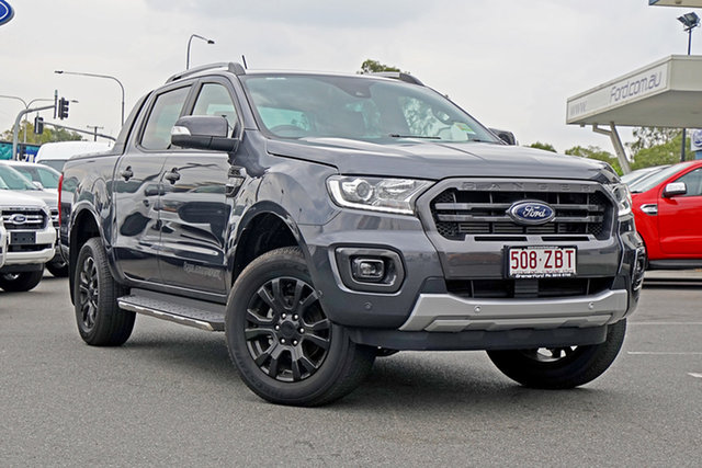 Used Ford Ranger PX MkIII 2019.75MY Wildtrak Pick-up Double Cab, 2019 Ford Ranger PX MkIII 2019.75MY Wildtrak Pick-up Double Cab Meteor Grey 6 Speed Sports Automatic