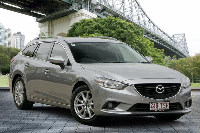 Used Mazda 6 GJ1031 Touring SKYACTIV-Drive, 2013 Mazda 6 GJ1031 Touring SKYACTIV-Drive Silver 6 Speed Sports Automatic Wagon