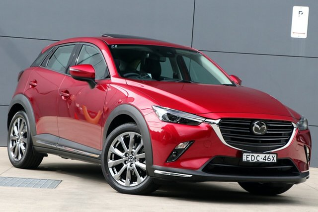 Used Mazda CX-3 DK4W7A Akari SKYACTIV-Drive i-ACTIV AWD LE, 2019 Mazda CX-3 DK4W7A Akari SKYACTIV-Drive i-ACTIV AWD LE Soul Red Crystal 6 Speed Sports Automatic