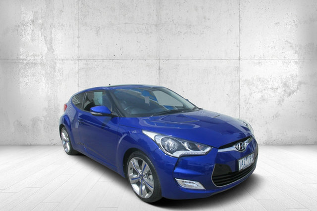 Used Hyundai Veloster FS3 + Coupe D-CT, 2014 Hyundai Veloster FS3 + Coupe D-CT Blue 6 Speed Sports Automatic Dual Clutch Hatchback