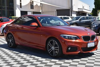 2018 BMW 2 Series F22 LCI 230i M Sport Orange 8 Speed Sports Automatic Coupe.