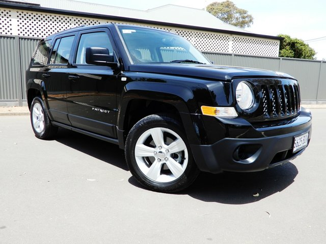 Used Jeep Patriot MK MY16 Sport CVT Auto Stick 4x2, 2015 Jeep Patriot MK MY16 Sport CVT Auto Stick 4x2 Black/Grey 6 Speed Constant Variable Wagon