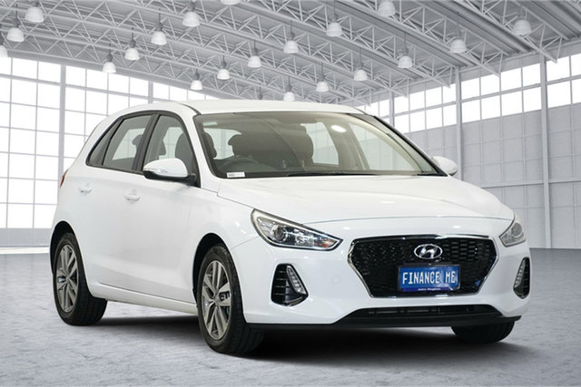 Used Hyundai i30 PD2 MY19 Premium, 2019 Hyundai i30 PD2 MY19 Premium White 6 Speed Sports Automatic Hatchback