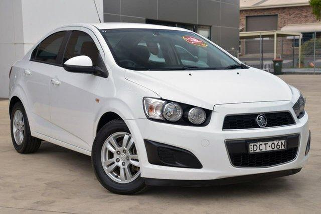 Used Holden Barina TM MY15 CD, 2014 Holden Barina TM MY15 CD White 5 Speed Manual Sedan