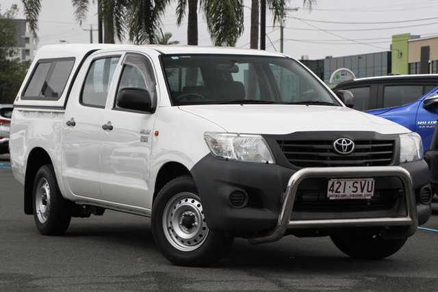 Used Toyota Hilux TGN16R MY12 Workmate Double Cab 4x2, 2012 Toyota Hilux TGN16R MY12 Workmate Double Cab 4x2 White 5 Speed Manual Utility