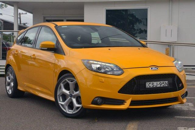 Used Ford Focus LW MkII ST, 2014 Ford Focus LW MkII ST Orange 6 Speed Manual Hatchback