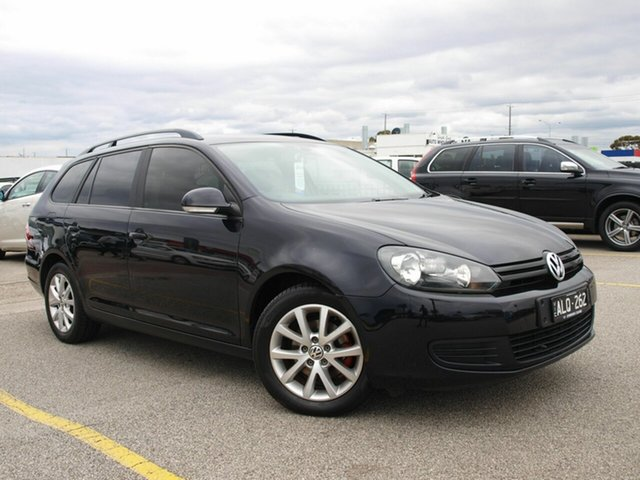 Used Volkswagen Golf VI MY10 77TDI Trendline, 2010 Volkswagen Golf VI MY10 77TDI Trendline Black 5 Speed Manual Wagon