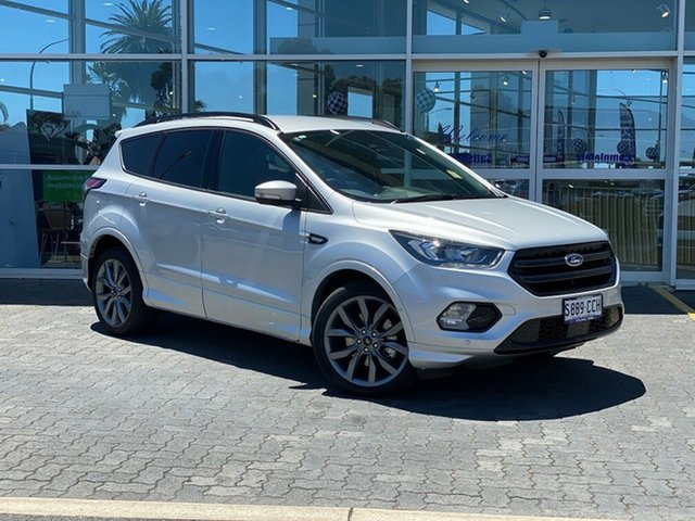 Demo Ford Escape ZG 2019.75MY ST-Line AWD, 2019 Ford Escape ZG 2019.75MY ST-Line AWD Moondust Silver 6 Speed Sports Automatic Wagon