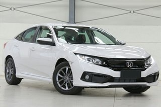2020 Honda Civic 10th Gen MY20 VTi-S Platinum White 1 Speed Constant Variable Sedan.