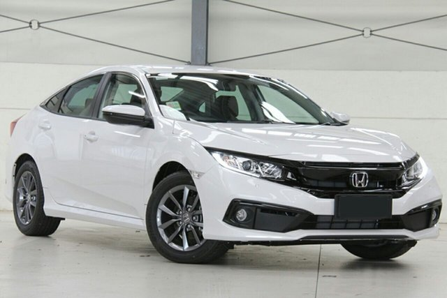 New Honda Civic 10th Gen MY20 VTi-S Mount Gravatt, 2020 Honda Civic 10th Gen MY20 VTi-S Platinum White 1 Speed Constant Variable Sedan