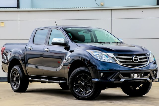 Used Mazda BT-50 MY18 XTR (4x4), 2018 Mazda BT-50 MY18 XTR (4x4) Deep Crystal Blue 6 Speed Automatic Dual Cab Utility