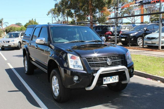 Used Holden Rodeo RA MY07 LT (4x4), 2007 Holden Rodeo RA MY07 LT (4x4) Black 4 Speed Automatic Crew Cab Pickup