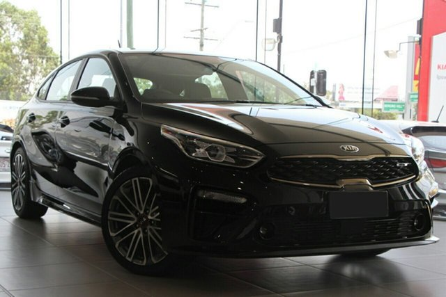 New Kia Cerato BD MY21 GT DCT St Marys, 2021 Kia Cerato BD MY21 GT DCT Aurora Black 7 Speed Sports Automatic Dual Clutch Hatchback