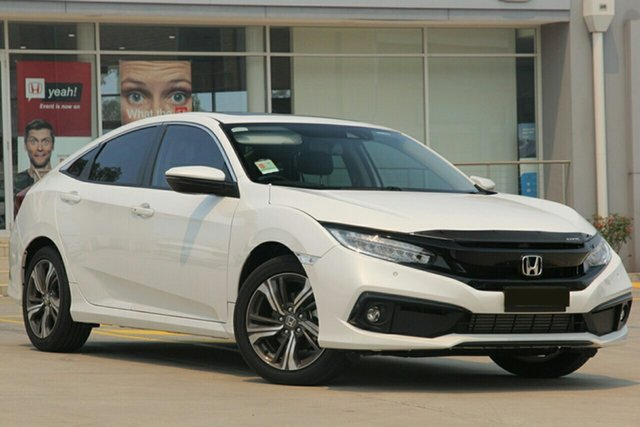 New Honda Civic MY20 VTi-LX Indooroopilly, 2020 Honda Civic MY20 VTi-LX Crystal Black Automatic Sedan