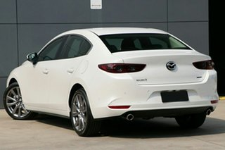 2020 Mazda 3 BP G20 Evolve Snowflake White Pearl 6 Speed Automatic Sedan.