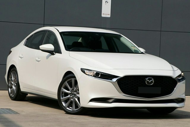 New Mazda 3 BP2S7A G20 SKYACTIV-Drive Evolve Wollongong, 2020 Mazda 3 BP2S7A G20 SKYACTIV-Drive Evolve Snowflake White Pearl 6 Speed Sports Automatic Sedan