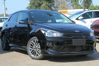 2021 Kia Rio YB MY21 GT-Line DCT Aurora Black 7 Speed Sports Automatic Dual Clutch Hatchback.
