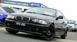 2002 BMW 3 Series E46 MY2002 320Ci Steptronic Black 5 Speed Sports Automatic Coupe.