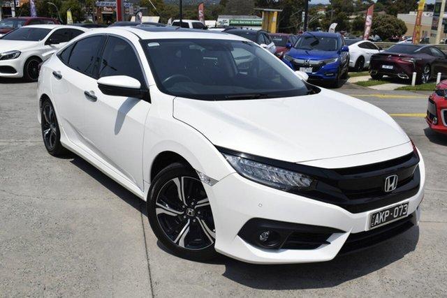 Used Honda Civic 10th Gen MY16 RS, 2017 Honda Civic 10th Gen MY16 RS White 1 Speed Constant Variable Sedan