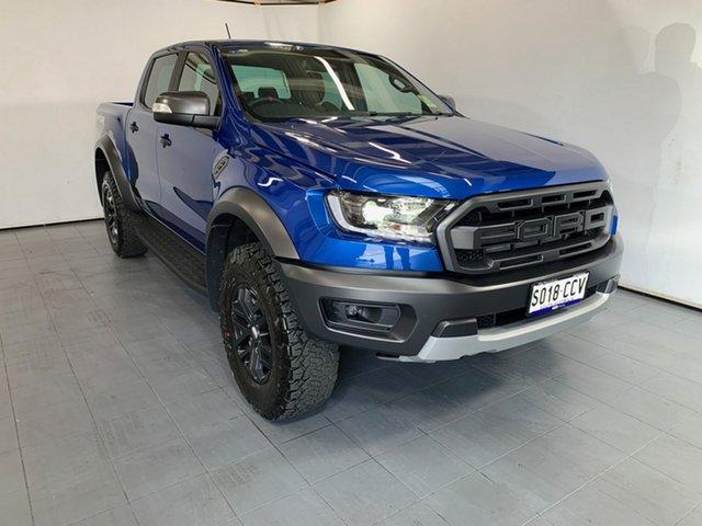 Demo Ford Ranger PX MkIII 2019.75MY Raptor Pick-up Double Cab, 2019 Ford Ranger PX MkIII 2019.75MY Raptor Pick-up Double Cab Blue Lightning 10 Speed