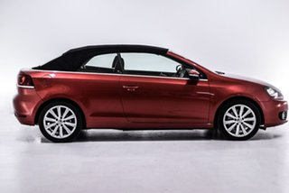 2014 Volkswagen Golf VI MY14 118TSI DSG Red 7 Speed Sports Automatic Dual Clutch Cabriolet