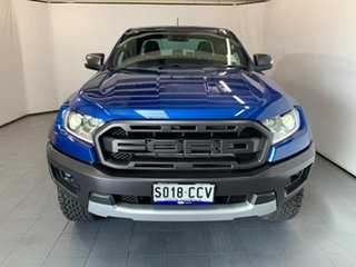 2019 Ford Ranger PX MkIII 2019.75MY Raptor Pick-up Double Cab Blue Lightning 10 Speed.
