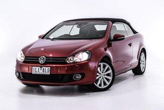 2014 Volkswagen Golf VI MY14 118TSI DSG Red 7 Speed Sports Automatic Dual Clutch Cabriolet.
