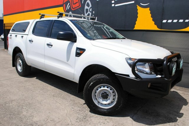 Used Ford Ranger PX XL Double Cab, 2013 Ford Ranger PX XL Double Cab Cool White 6 Speed Sports Automatic Utility