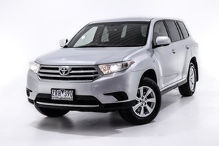 2013 Toyota Kluger GSU40R MY12 KX-R 2WD Silver 5 Speed Sports Automatic Wagon.