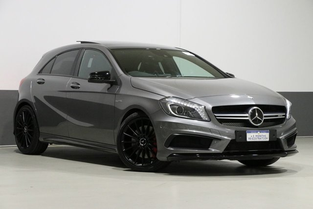 Used Mercedes-Benz A45 176 AMG, 2014 Mercedes-Benz A45 176 AMG Graphite 7 Speed Auto Dual Clutch Hatchback