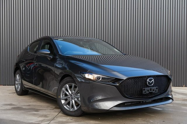 New Mazda 3 BP2H7A G20 SKYACTIV-Drive Pure, 2019 Mazda 3 BP2H7A G20 SKYACTIV-Drive Pure Machine Grey 6 Speed Sports Automatic Hatchback