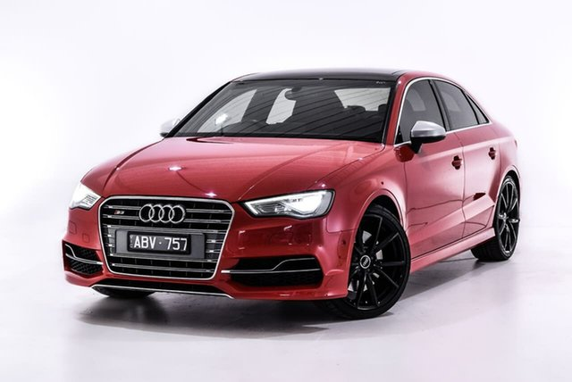 Used Audi S3 8V MY14 S Tronic Quattro, 2014 Audi S3 8V MY14 S Tronic Quattro Red 6 Speed Sports Automatic Dual Clutch Sedan