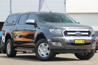 2016 Ford Ranger PX MkII XL Double Cab Grey 6 Speed Sports Automatic Utility.