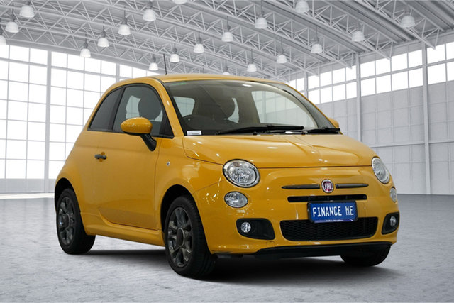 Used Fiat 500 Series 1 S, 2013 Fiat 500 Series 1 S Yellow 6 Speed Manual Hatchback