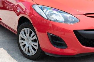 2010 Mazda 2 DE10Y1 Neo True Red 5 Speed Manual Hatchback.