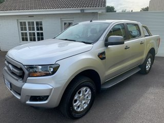 2018 Ford Ranger PX MkII 2018.00MY XLS Double Cab Silver 6 Speed Manual Utility.