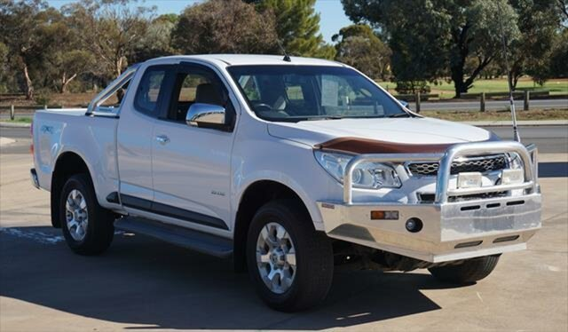 Used Holden Colorado RG MY13 LTZ Space Cab, 2012 Holden Colorado RG MY13 LTZ Space Cab Olympic White 5 Speed Manual Utility