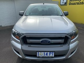 2018 Ford Ranger PX MkII 2018.00MY XLS Double Cab Silver 6 Speed Manual Utility