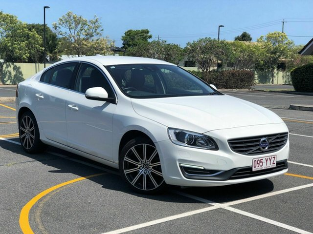 Used Volvo S60 F Series MY16 T4 Adap Geartronic Luxury, 2015 Volvo S60 F Series MY16 T4 Adap Geartronic Luxury White 6 Speed Sports Automatic Sedan