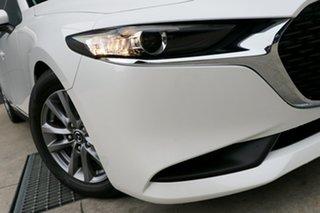 2021 Mazda 3 BP2S7A G20 SKYACTIV-Drive Pure Snowflake White 6 Speed Sports Automatic Sedan.