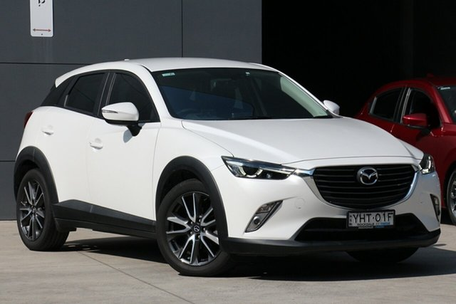 Used Mazda CX-3 DK2W76 sTouring SKYACTIV-MT, 2017 Mazda CX-3 DK2W76 sTouring SKYACTIV-MT White 6 Speed Manual Wagon