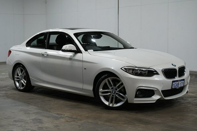 Used BMW 2 Series F22 220d M Sport, 2015 BMW 2 Series F22 220d M Sport White 8 Speed Sports Automatic Coupe
