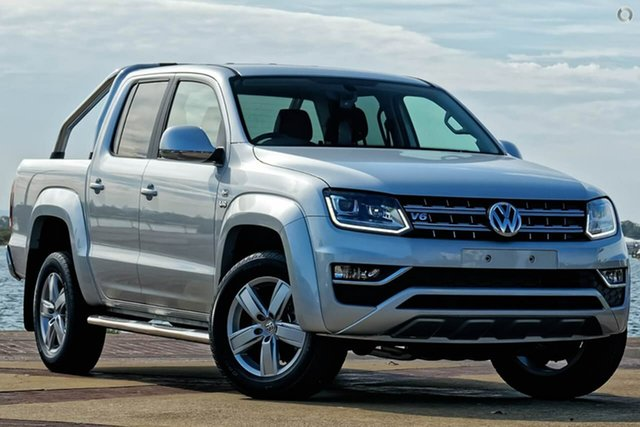 New Volkswagen Amarok 2H MY19 TDI550 4MOTION Perm Highline, 2019 Volkswagen Amarok 2H MY19 TDI550 4MOTION Perm Highline Silver 8 Speed Automatic Utility