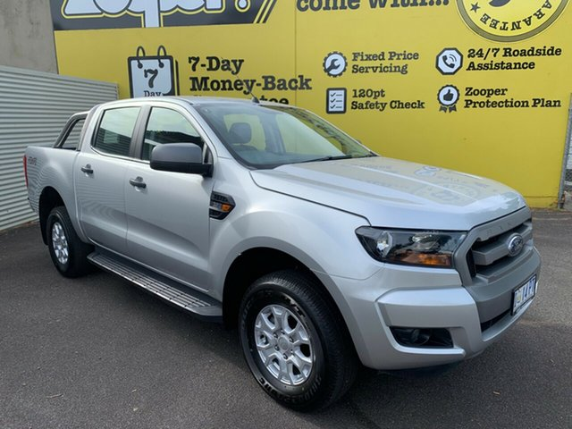 Used Ford Ranger PX MkII 2018.00MY XLS Double Cab, 2018 Ford Ranger PX MkII 2018.00MY XLS Double Cab Silver 6 Speed Manual Utility