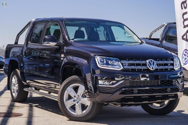 New Volkswagen Amarok 2H MY19 TDI550 4MOTION Perm Highline, 2019 Volkswagen Amarok 2H MY19 TDI550 4MOTION Perm Highline Black 8 Speed Automatic Utility