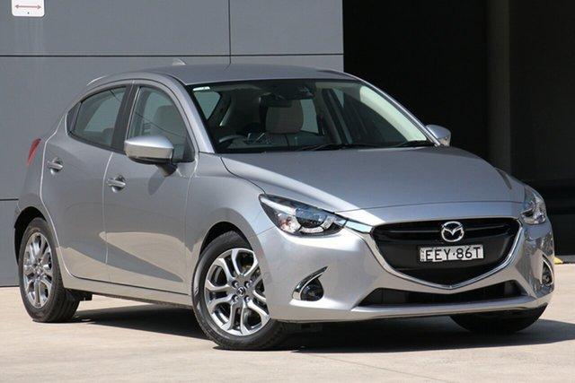 Used Mazda 2 DJ2HAA GT SKYACTIV-Drive, 2019 Mazda 2 DJ2HAA GT SKYACTIV-Drive Aluminium 6 Speed Sports Automatic Hatchback