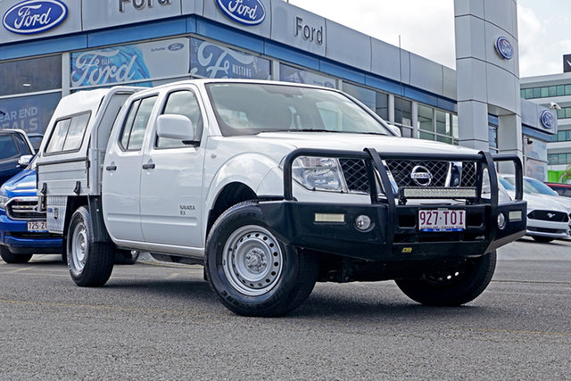 Used Nissan Navara D40 S7 MY12 RX, 2012 Nissan Navara D40 S7 MY12 RX White 5 Speed Automatic Cab Chassis